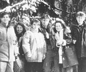 Во время учебы в ПГЛУ (филфак, испанская группа).  На горе Машук (в центре)